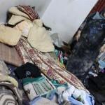 Místní dům po izraelské prohlídce v uprchlickém táboře Balata