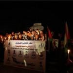 Novináři si připínají smrt svých kolegů během, která byli zabiti běehem operace Lité olovo v pásmu Gazy